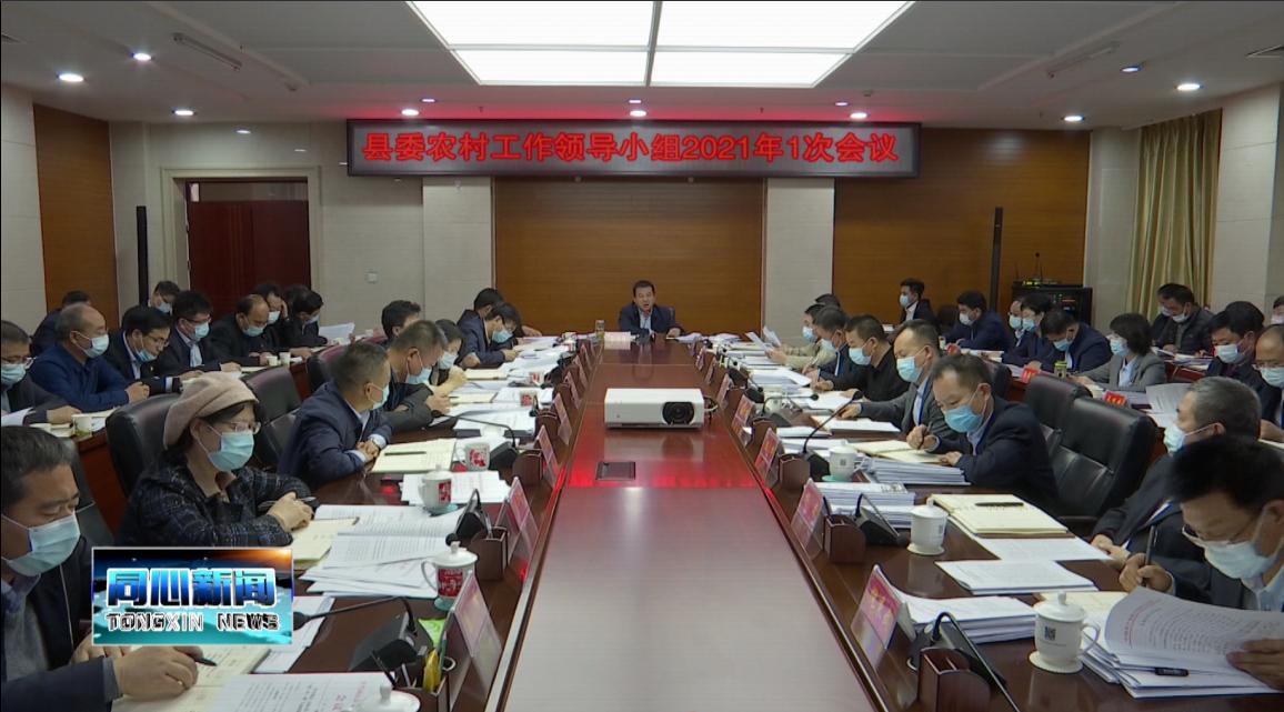 县委农村工作领导小组2021年1次会议召开